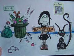 Sadie likes halloween (lucky billie 84) Tags: drawing crayolas