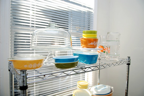 pyrex shelf