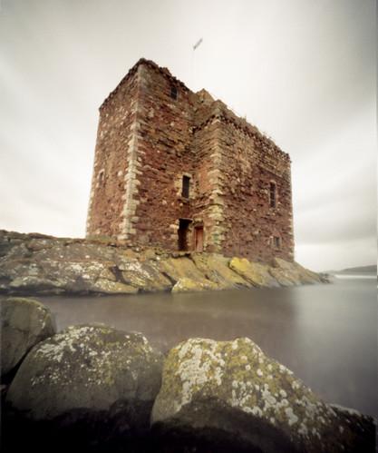 Portencross castle Agfa Billy pinhole image 06Mar09