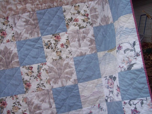 Close Up of Pillow Case Quilt