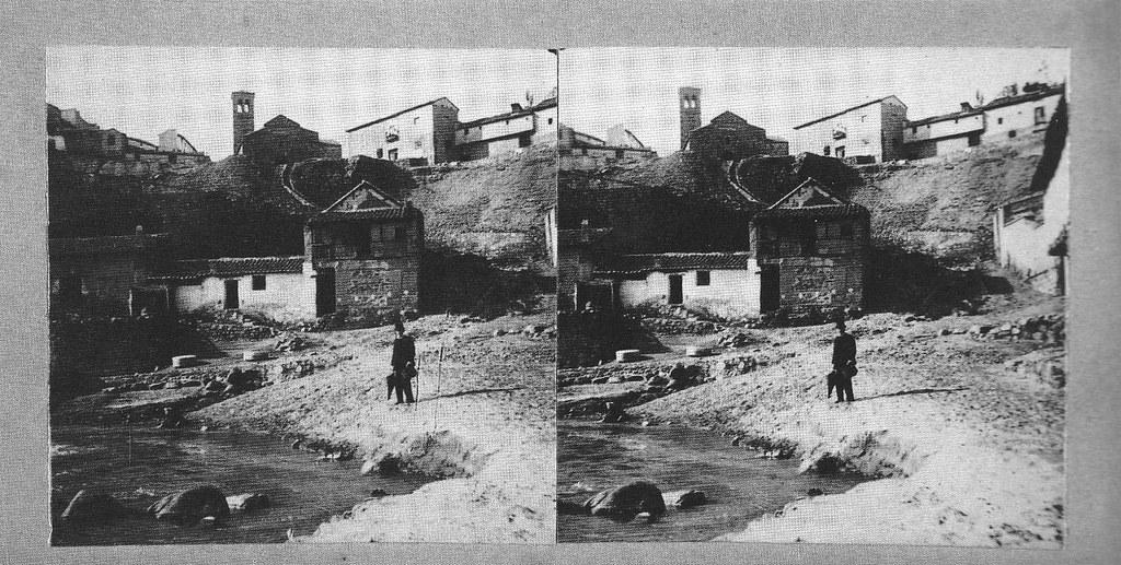 Fotografía estereoscópica de Las Tenerías en Toledo hacia 1934. Donación del Marqués de la Vega Inclán a la Hispanic Society of America