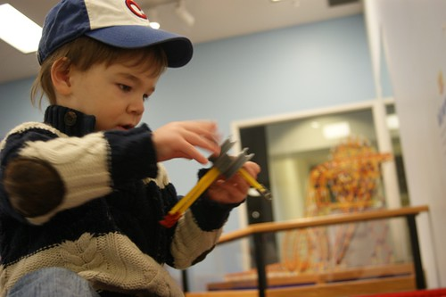Silas at the Discovery Center