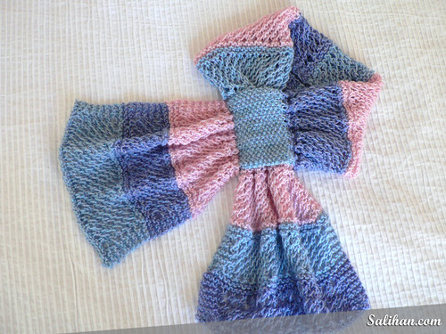 Knitting Pattern Bow Knot Scarf : knitting pattern Salihan Crafts Blog