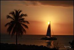 Beaches Boat in Montego (digital-K70) Tags: ocean sunset jamaica beaches montegobay caribean seagateoneill