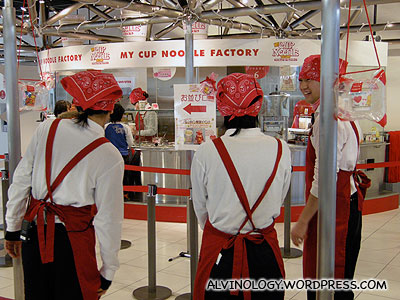 The staff at the cup noodle factory