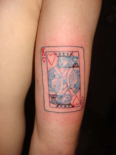 back tattoo · king of hearts