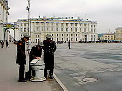 spherm06 Saint Petersburg, Russia, Palace Square 2000 (CanadaGood) Tags: people color colour building soldier person uniform europe 2000 russia military palace streetphoto saintpetersburg hermitage russian palacesquare 2000s sanktpeterburg россия russianfederation санктпетербург canadagood