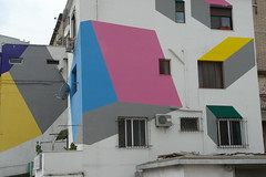 The colourful buildings of Tirana (CharlesFred) Tags: colour buildings europa europe albania balkan tirana balcani balcanica southeasteurope shqipria ballkan  balkanhalbinsel   ballkanik ovejebalkan thisisthebalkans achainofwoodedmountains haemus