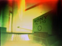 Turntable (_Rafa_) Tags: film lofi pinhole lightleak c41 duoscan