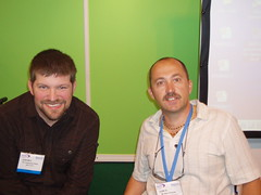 NAIDEX 2009 Ouch with Lawernce Clarke 30-4-09 (roygbiv1) Tags: cupholders naidex bbcouch