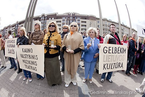 Lithuanian artists protest action by you.