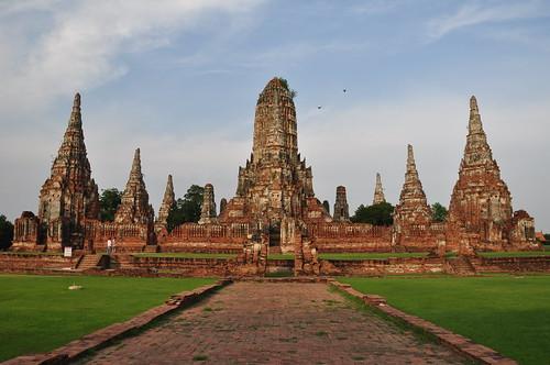 wat chai wathana ram ayutthaya unesco world heritage site