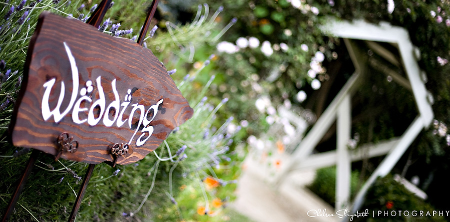 Garden Wood Wedding Sign