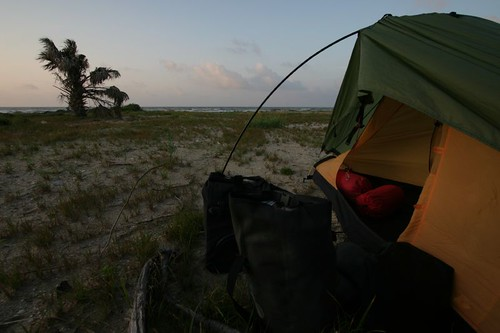Wild camping near Crystal Beach, Texas...
