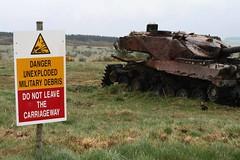 Imber Ranges (claireyfairy) Tags: training army rust decay destruction military ranges april wreck plain deserted salisburyplain tanks imber