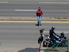 IMGP5599 (grgrgrz) Tags: bike friend meeting redjacket theride bikergirl penatx ameeting k10d