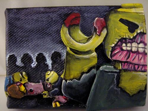 Lego Zombie custom minifig painting
