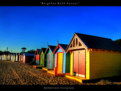 Brighton Bath Houses (i) Tags: beach colors colorful brighton bluesky brightonbeach hdr colorfulhouses brightonbathhouses erizslr