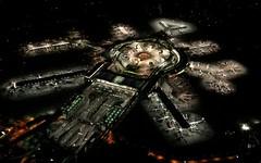 [フリー画像] [人工風景] [建造物/建築物] [空港] [夜景] [アメリカ風景]      [フリー素材]