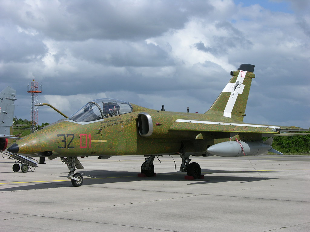 MM7147 32-01 Aeritalia-Embraer AMX 32ş Stormo painted in second world war markings