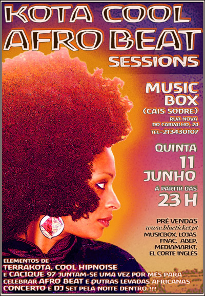 Kota Cool Afro Beat Sessions - Flyer 11- 06 - 09