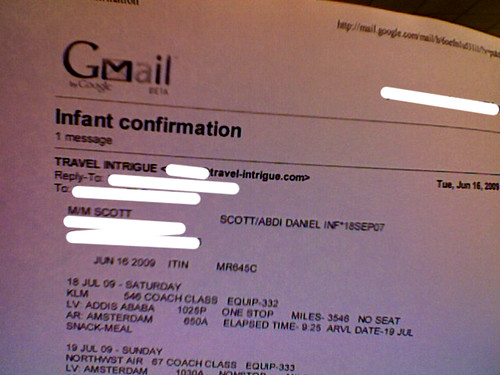 Adoption | Taye's First Plane Ticket