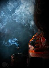 .Faith|Belief. (.krish.Tipirneni.) Tags: india money temple ganesha nikon god smoke faith belief believe ap hindu confusion 1000 dreamcatcher kumkum andhrapradesh gudi warangal poga incensesticks dhoop pasupu 18200vr d80 paise agarbatti  kumkuma 1000pillartemple  veyyisthambalagudi