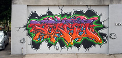 Soker (knautia) Tags: uk england autostitch streetart june bristol graffiti bedminster 2009 soker