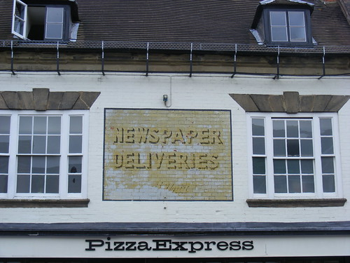 Ghost Sign Pizza Express Stratford Upon Avon June 2009 A