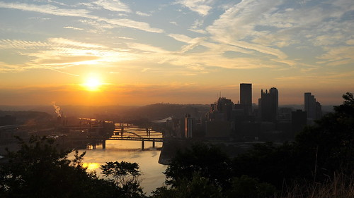 Sunrise over Pittsburgh
