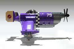 Steel Wind (JonHall18) Tags: plane fighter purple lego aircraft fantasy scifi vehicle moc skyfi dieselpunk dieselpulp