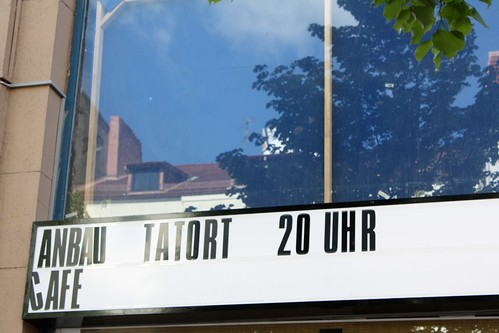 My favourite crime show Tatort is watched by many people in bars every Sunday
