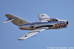 Mikoyan-Gurevich MiG-15 (mvonraesfeld) Tags: show california ca classic museum plane airplane war fighter russia aircraft aviation military air jet korean russian warbird ussr chino planesoffame mig15 fagot mikoyangurevich img2036