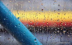 Color beyond the rain (Rafakoy) Tags: city railroad color colour wet water glass colors rain station digital train subway photo bokeh picture woodside defocus colous nikond90 aldorafaelaltamirano rafaelaltamirano aldoraltamirano