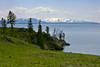 Yellowstone Lake (bhophotos) Tags: trip travel usa lake snow mountains nature water landscape geotagged spring pentax yellowstonenationalpark yellowstone wyoming yellowstonelake k110d