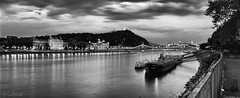 Budapest Panorama @ Night (Mr Azrakino) Tags: city urban panorama cloud night silver river landscape 50mm long exposure hungary time pentax pano budapest scape nuit paysages danube k5 giga youssef hongrie autopano  azrak fa50  efex pentaxk5