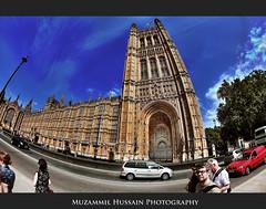 Parliment House (Muzammil (Moz)) Tags: uk london fisheye moz parlimenthouse houseofcommon