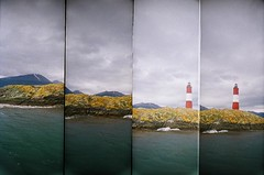 un faro... (asleeponasunbeam) Tags: patagonia lighthouse freeassociation argentina lomo lomography supersampler farol fa