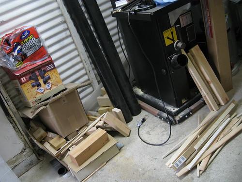 garage floor mess