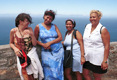 Cape Point South Africa Ladies 1998 012 Lorraine Penny Marikie and Rosalina (photographer695) Tags: capetown cape point south africa 1998 lorraine penny marikie rosalina