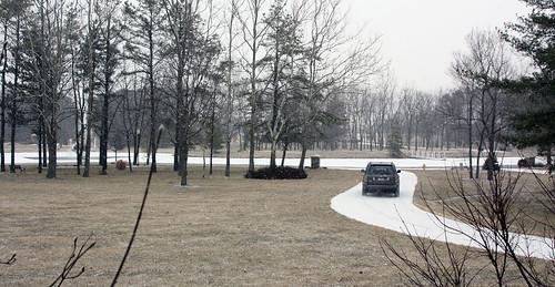 snowing a little bit