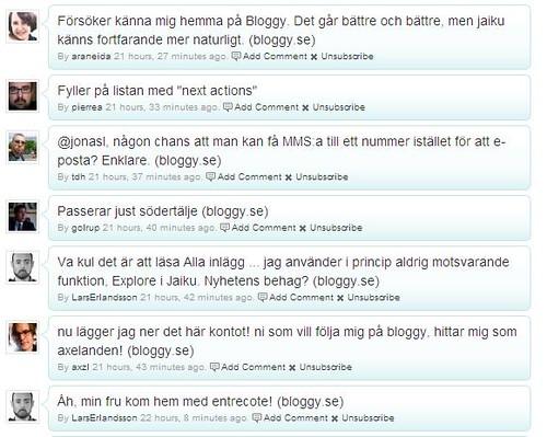 bloggy jaiku