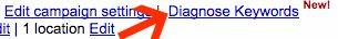 Diagnose Keywords Google AdWords