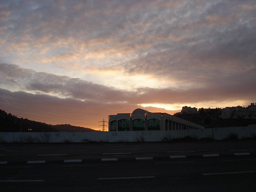 The sky at sunset over Malha