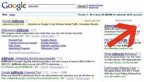 SearchWiki AdWords