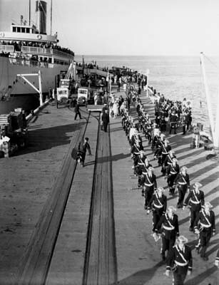 Troops on the S.S. Catalina