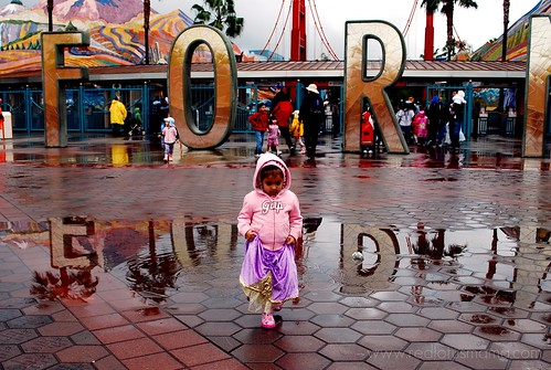 princess in the rain
