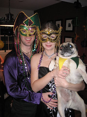 ian, tammy and norman at mardi gras