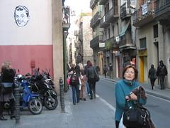 (nadie en campaña) Tags: barcelona white streetart black pasteup blanco poster stencil negro gracia nadie