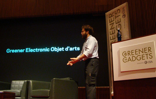 Greener Electronic Objet D'Arts, Saul Griffith, greener gadgets 2009, sustainable design, green consumer electronics, greener gadgets design competition, green technology conference, clean technology